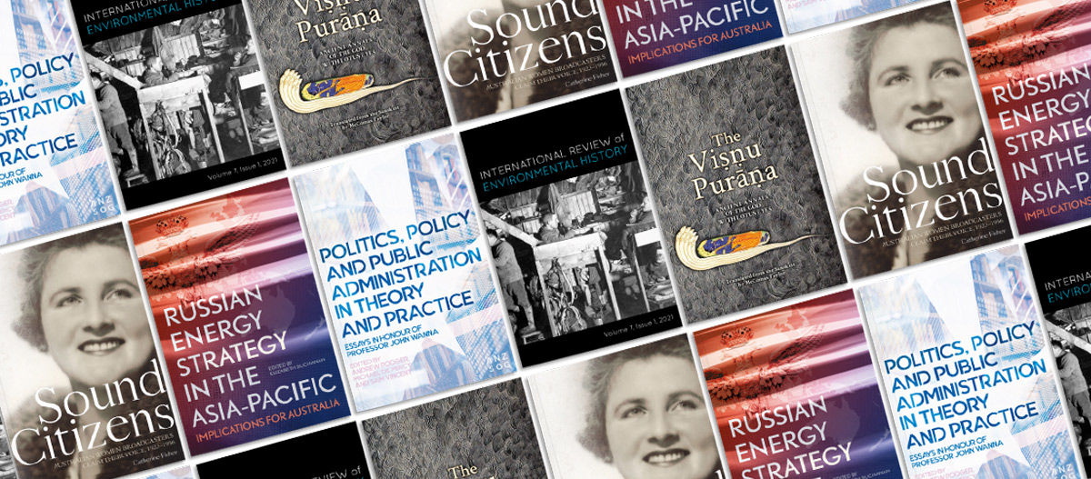 A selection of cover images for titles coming soon to ANU Press