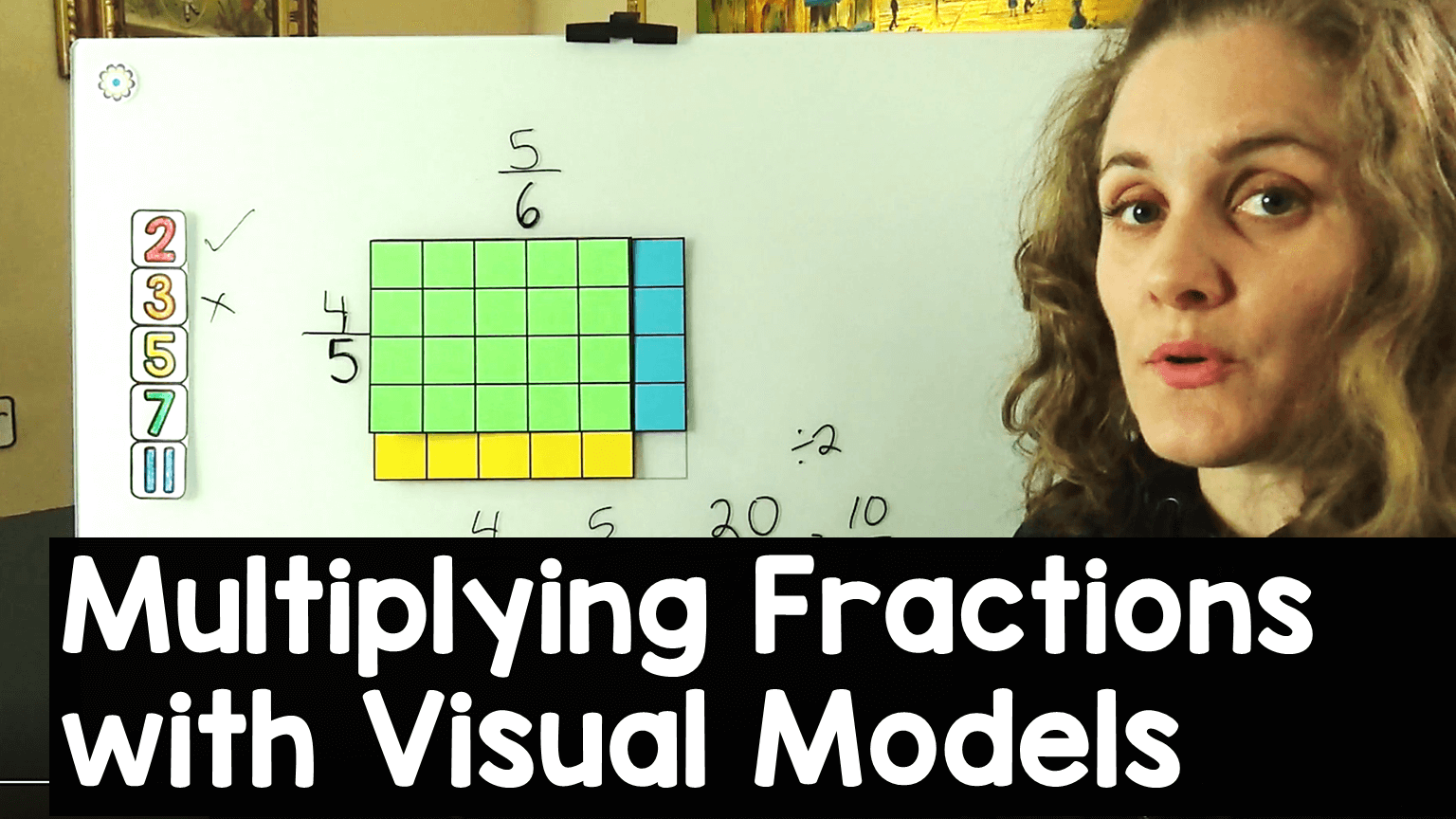 How to multiply fractions using area models video on my YouTube channel