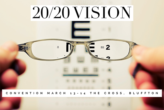 2020 Vision eye chart with Convention Details