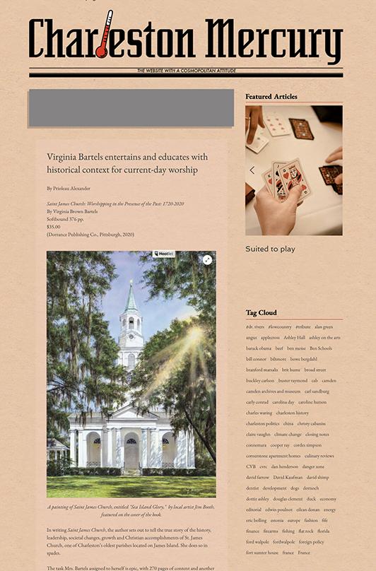 Charleston Mercury with St. James Book