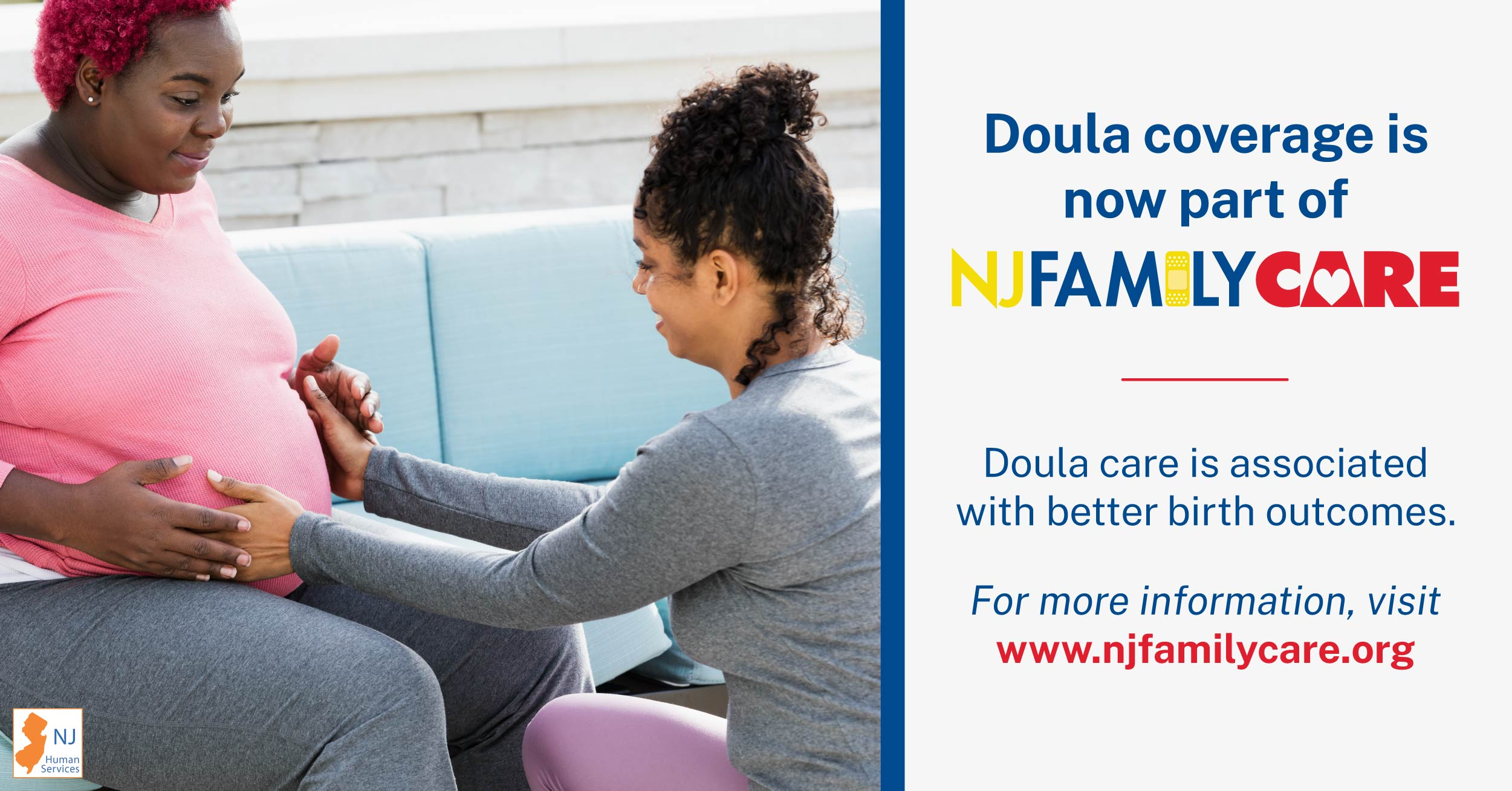 A doula helps a pregnant woman.