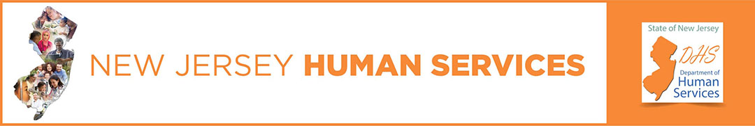 The orange logo for New Jersey Human Services