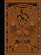 A sepia-brown book cover with a black spine that features drawings of a snake, a sunburst, flowers, and animals in black.