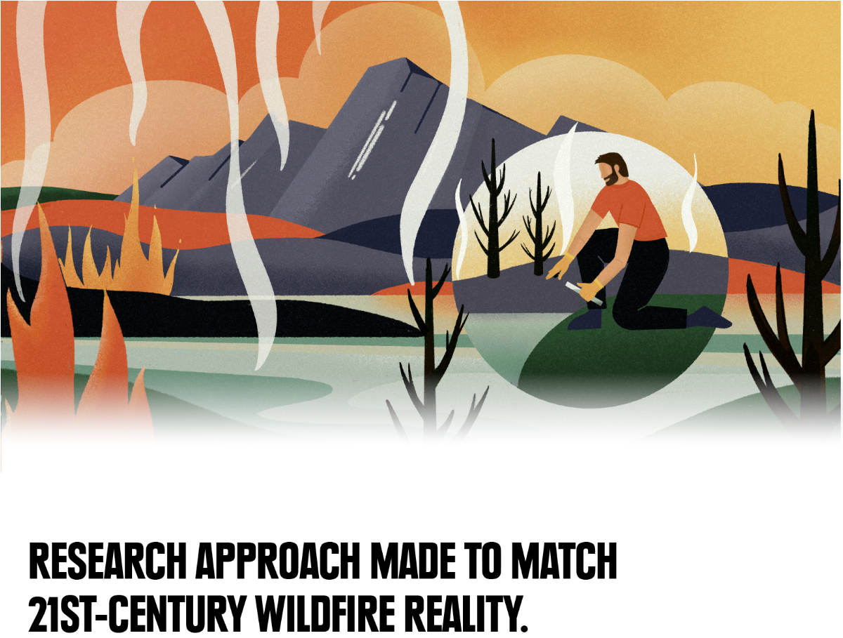 Research approach made to match 21st-century wildfire reality.
