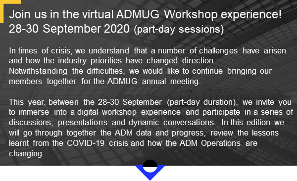 The ADMUG Workshop #9 goes virtual! Save your spot 1