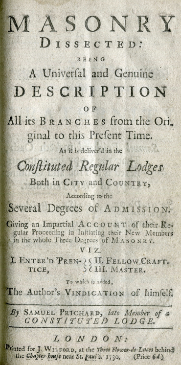 Title Page from original Masonry Dissected