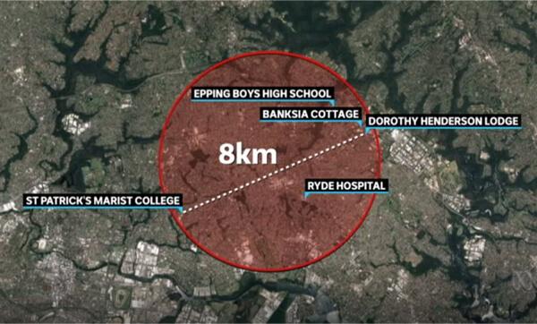 Hot Zone Map Courtesy of ABC