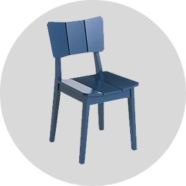 Cadeira Uma Azul