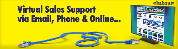 Laceys.tv eNews Virtual Sales Support Banner