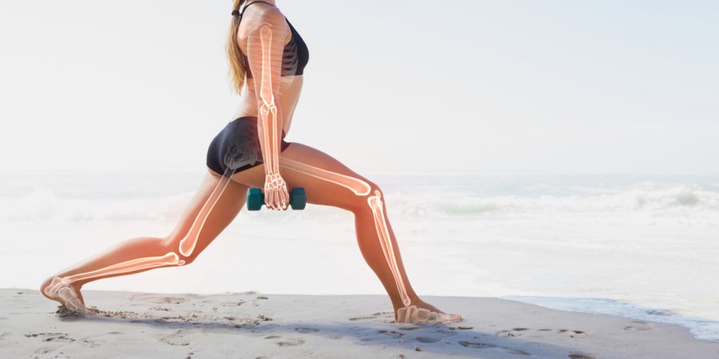 Image depicting what the skeletal system looks like when exercising.