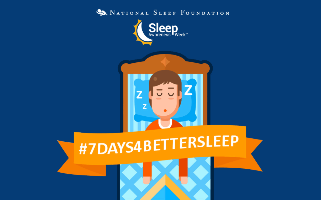Image of #7DAYS4BETTERSLEEP campaign by National Sleep Foundation.