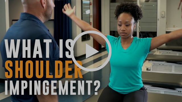 Video discussing shoulder impingement from Airrosti provider.