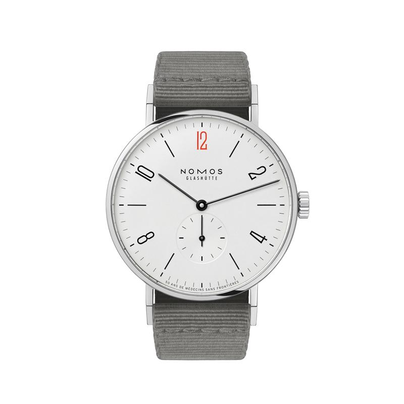 """Nomos tangente watch with red """"12"""""""