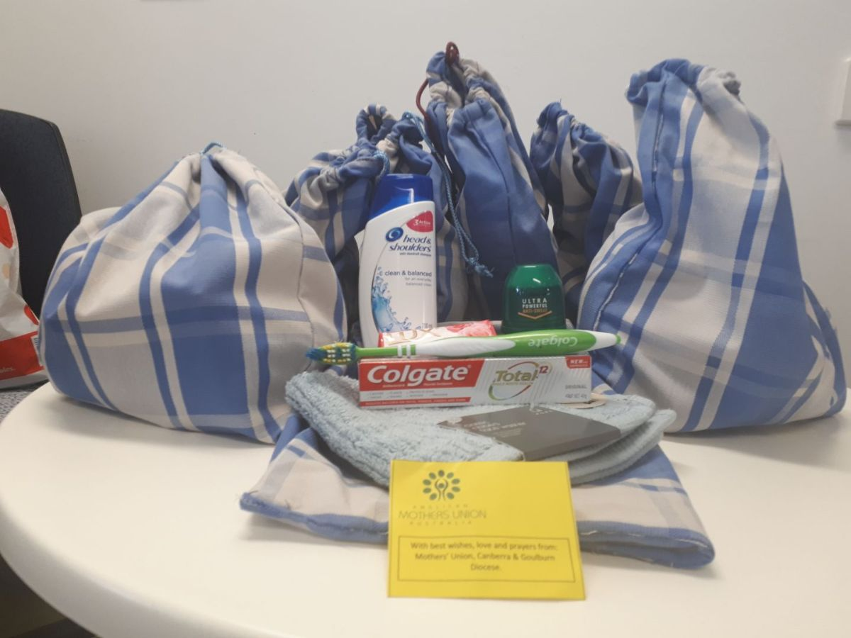 Donation of men's toiletries from the Mothers' Union - Canberra & Goulburn Dioceses