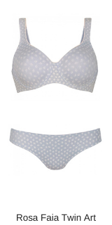 Rosa Faia lingerie Twin art moulded BH in soft blue