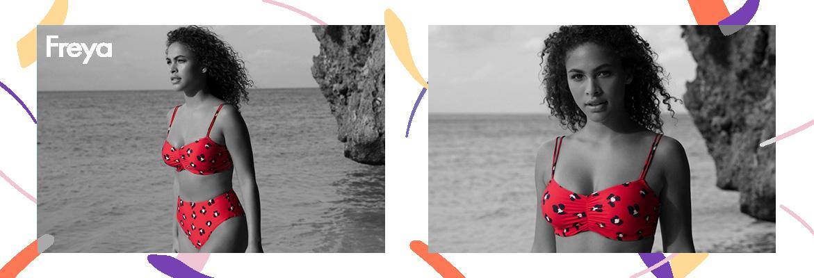 Freya swim wildcat deco bikini padded in red