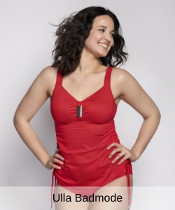Ulla St. Tropez tankini met beugel in red