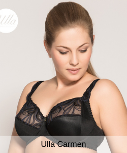 Ulla lingerie carmen full cup bh in black