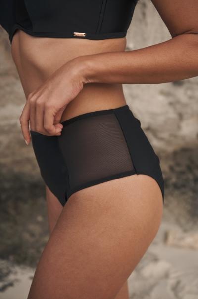 Panache Swim Onyx bikini bandeau in black