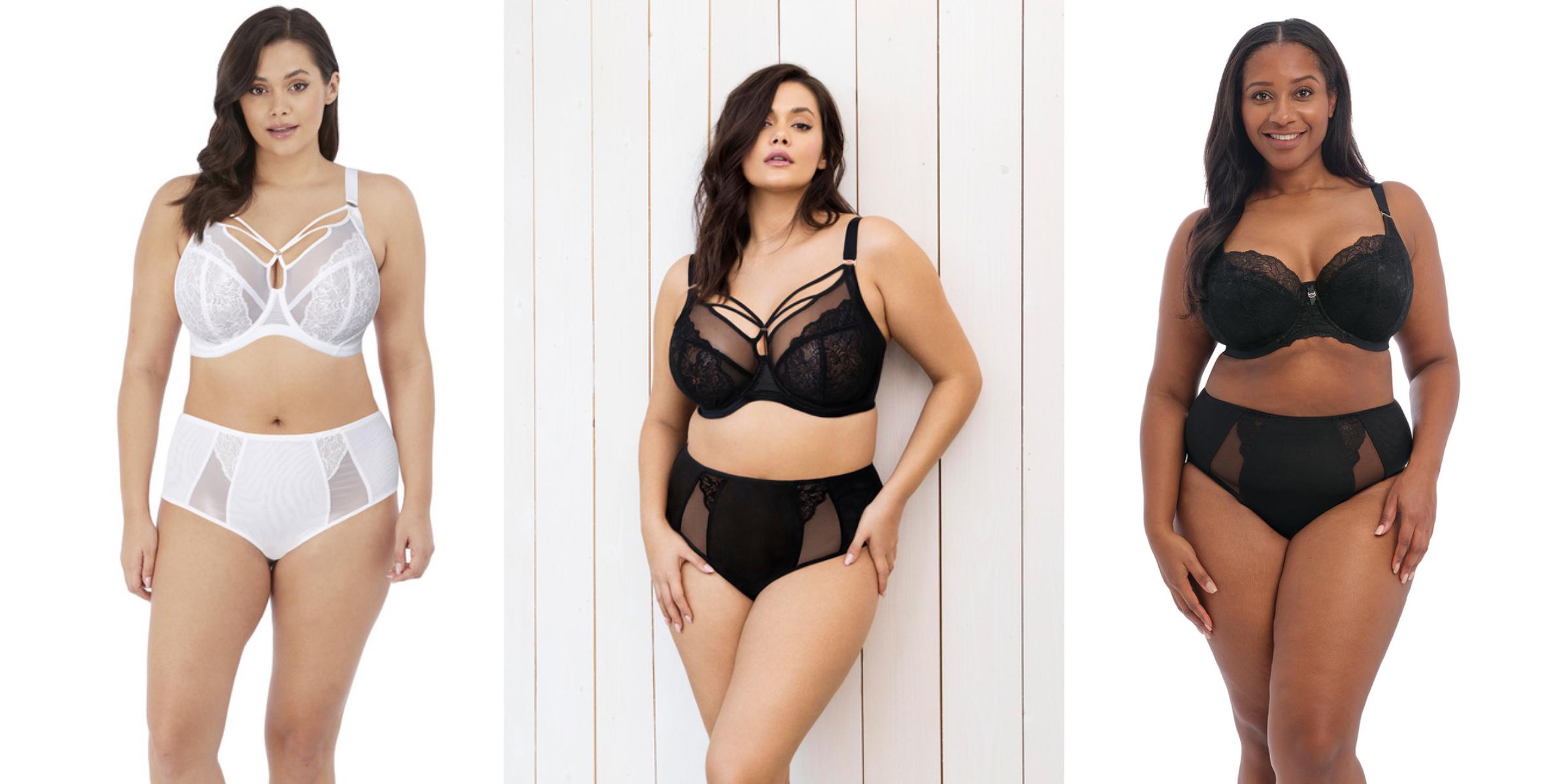 3 vrouwen in verschillende modellen van elomi lingerie brianna BH's