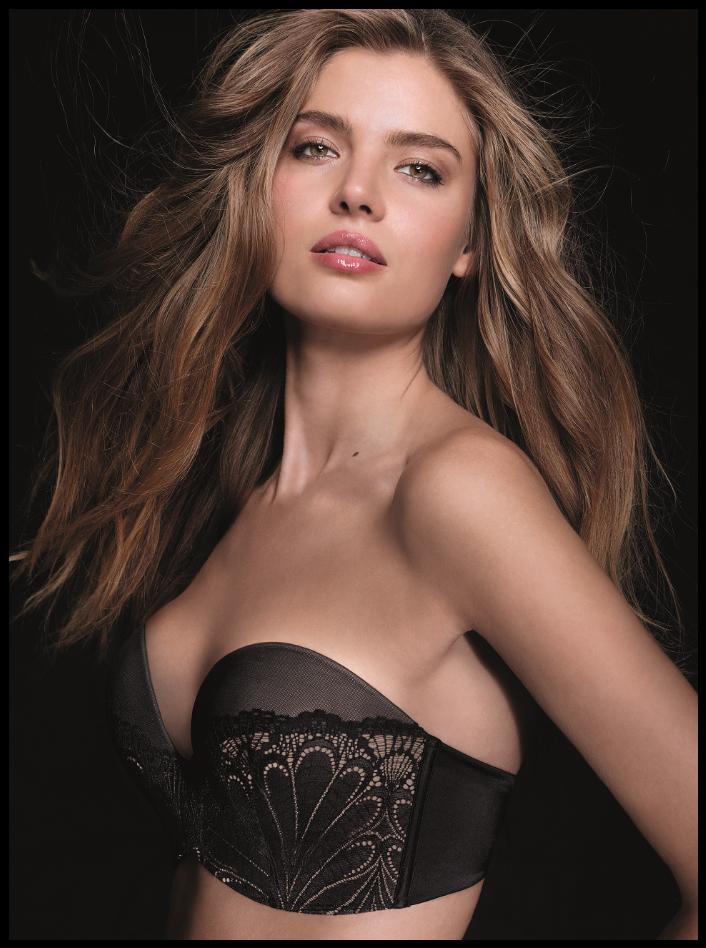 Wonderbra lingerie strapless bh bruidslingerie Glamour in black