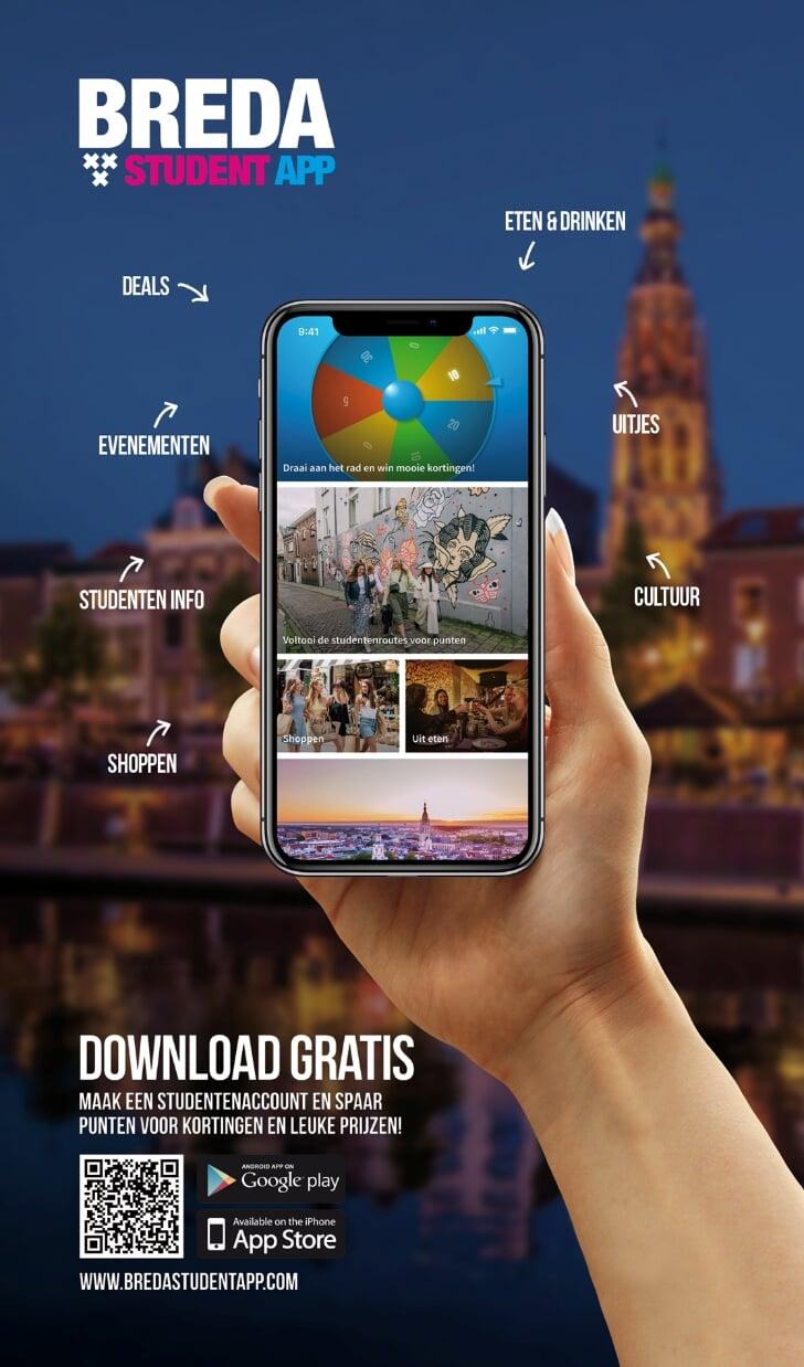 breda studenten app nu verkrijgbaar spaar voor kortingen