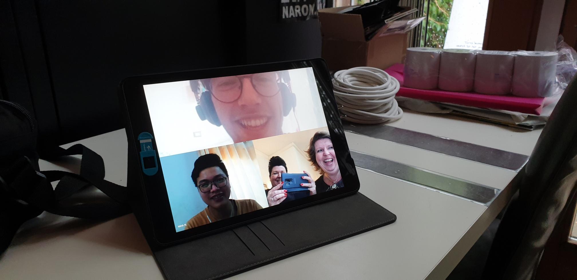 Naron werkt samen met hogeschool leeuwarden videobellen rond de wereld