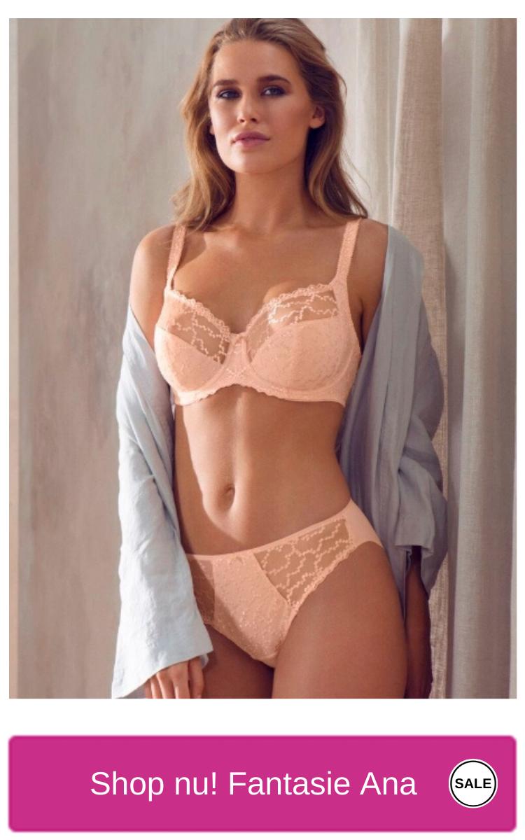 Shop nu met korting  Fantasie Lingerie Ana Full cup bh met side support in blush