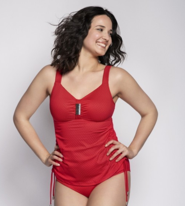 Ulla swim st tropez tankini met beugel in red