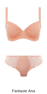 Fantasie lingerie padded half cup ana in blush