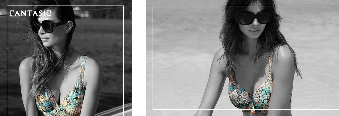 Fantasie swim full cup bikini Manila in iced aqua
