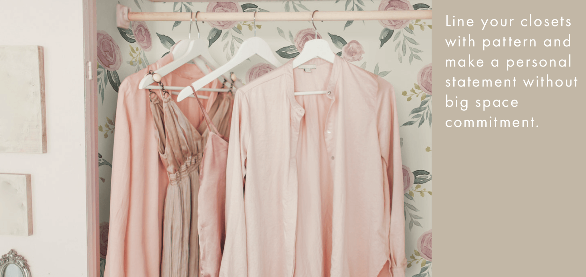 using wallpaper in closets