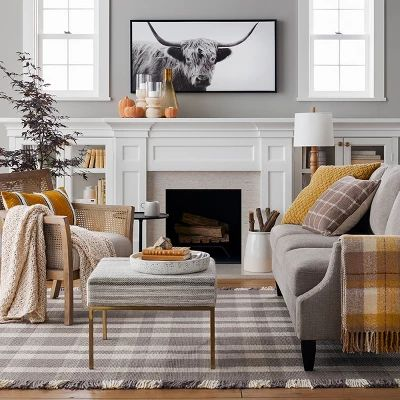 family room decorating for fall