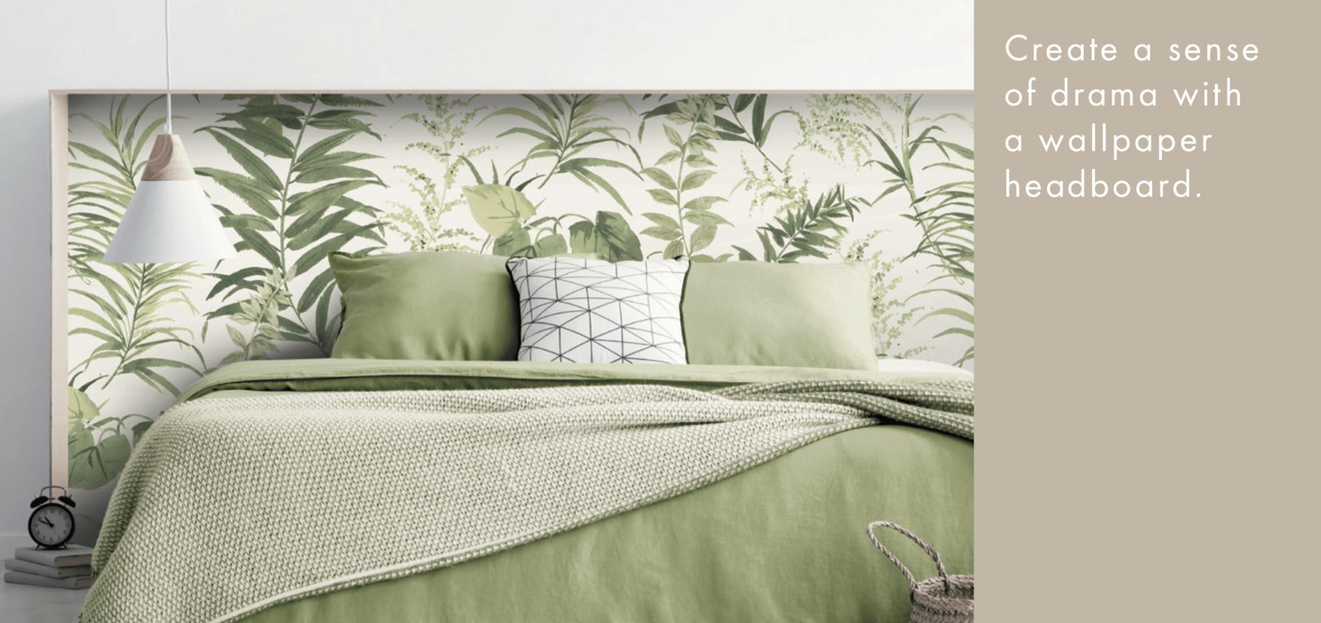 wallpaper headboard for your bedroom