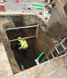 Forde preparing to install new manhole 4.20.20