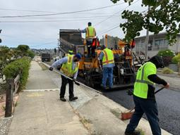 Paving operations on South 58th (2)