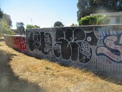 A wall with graffiti    Description automatically generated with medium confidence