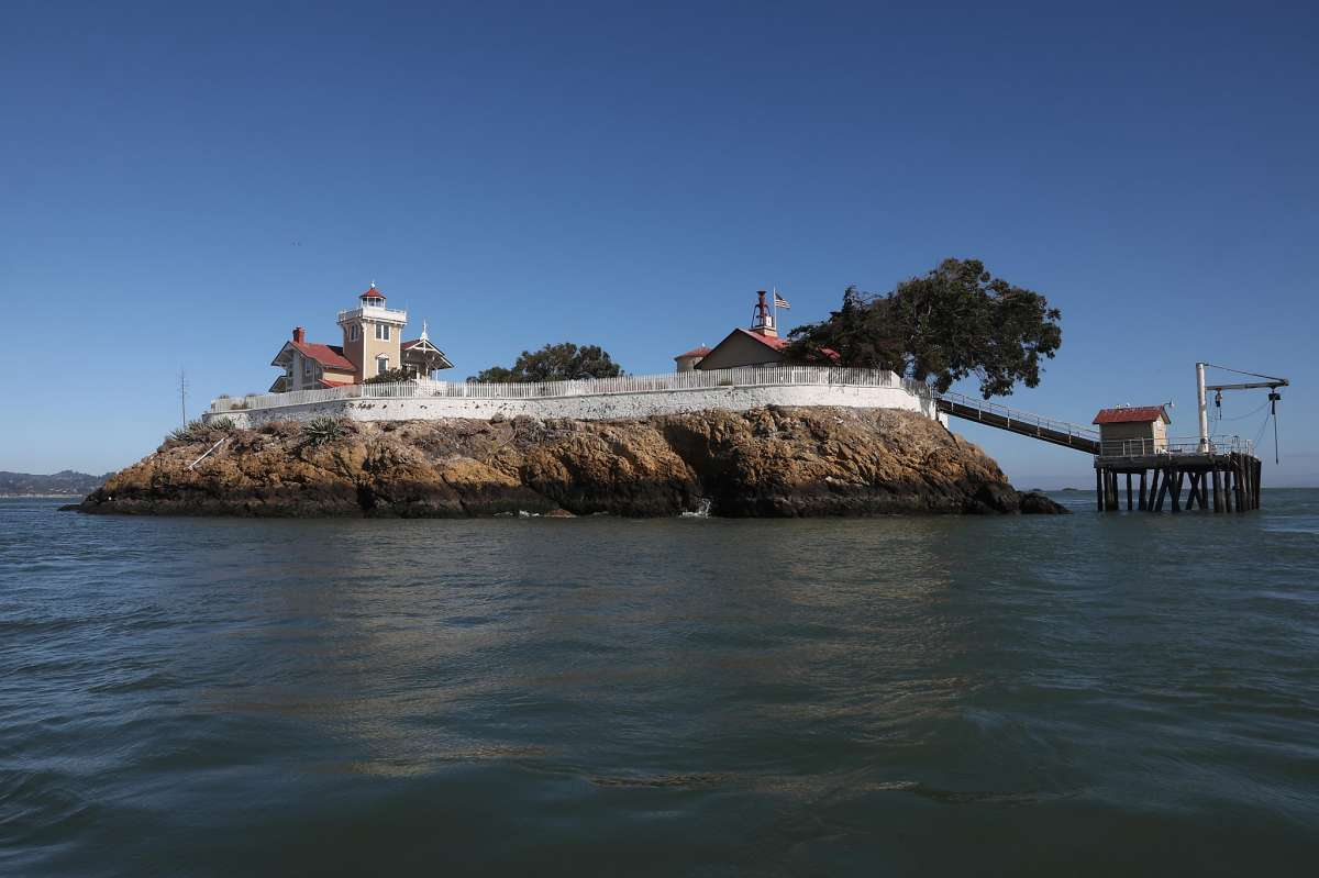 East Brother Light Station on a small island just off Point San Pablo Harbor seen on Tuesday, July 23, 2019 in San Francisco, Calif.
