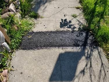 2510 McBryde asphalt ramp make safe