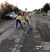 Approach lines Install at Pennsylvania Ave Project