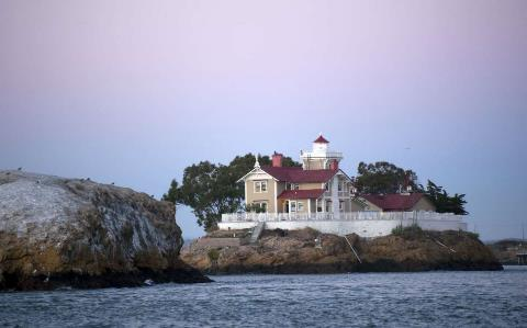 East Brother Light Station in San Francisco Bay near Richmond, Calif.