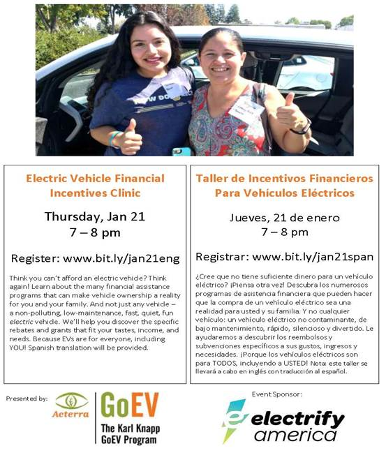 EV Financial Incentives Clinic Flyer - EngSpan