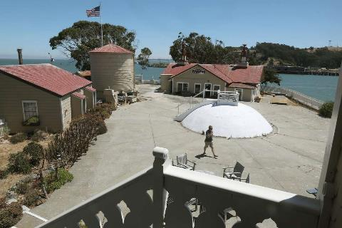View of the historic 1873 buildings that house the bed and breakfast inn at the East Brother Light Station on a small island just off Point San Pablo Harbor seen on Tuesday, July 23, 2019 in Richmond, Calif.