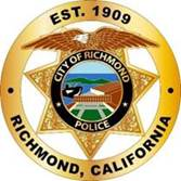 May be an image of text that says 'EST. 1909 CITY OF RICHMOND CHMOND RICHMOND POLICE CALIFORAY'