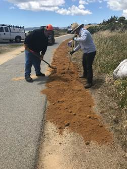 New decomposed granite on Bay Trail
