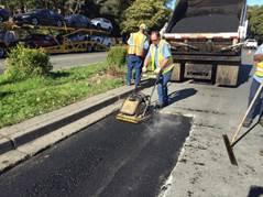 1st lift Base repair on Parkway