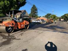 Paver and Roller operations Carlos Ave