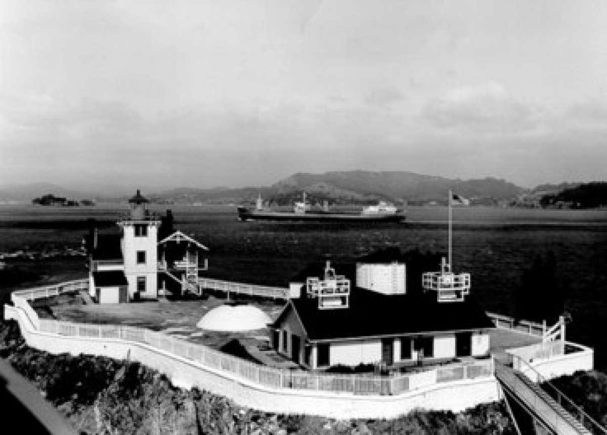 U.S. Coast Guard Historian's Office photo of East Brother Island Light Station.