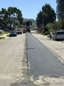 Paving after sewer main replacment on Fallon Avenue