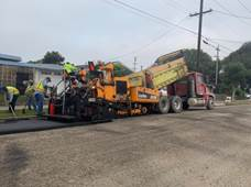 Paving operations on Virginia Ave
